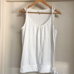 LOFT tank top with twist straps and side tie